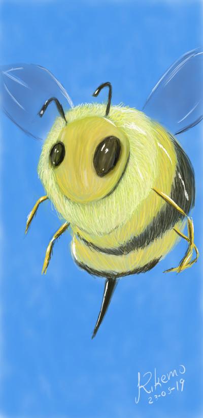 Yellow bee   Kikemo   Digital Drawing   PENUP
