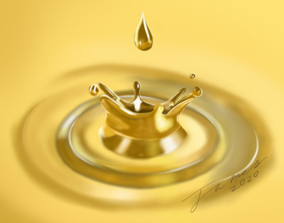 Liquid Gold | James_Maynard | Digital Drawing | PENUP
