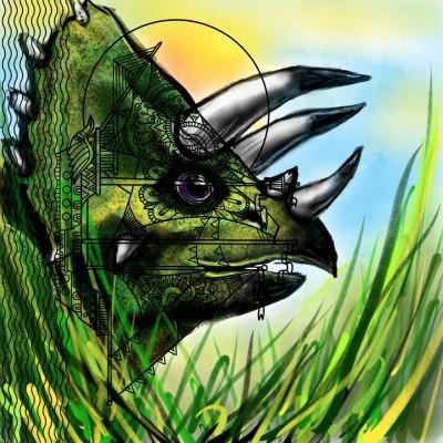 Triceratops | Mishanya | Digital Drawing | PENUP