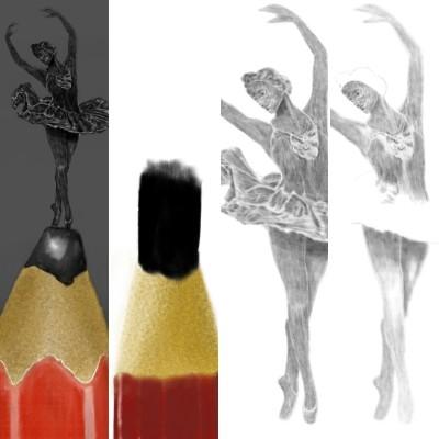 pen ballet statue  | Erkan-Beyatli | Digital Drawing | PENUP