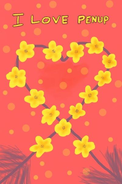 Heart Yellow Flowers  | Venkatesh | Digital Drawing | PENUP