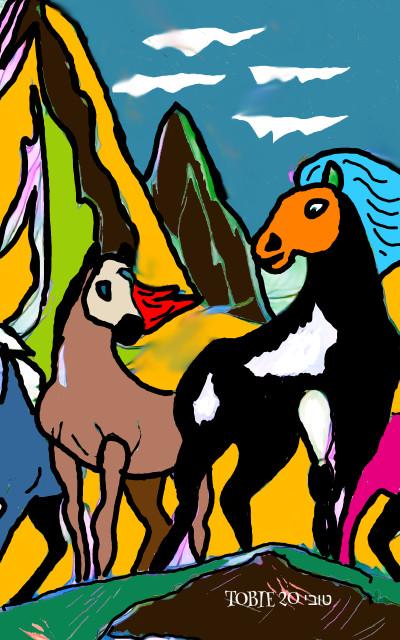 WILD HORSES    Tobie.ISR   Digital Drawing   PENUP