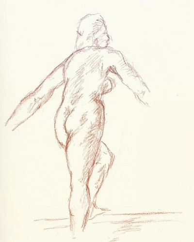 Conte Sanguine pencil | Blueflow | Digital Drawing | PENUP