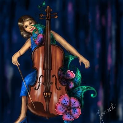 Cello | jenart | Digital Drawing | PENUP