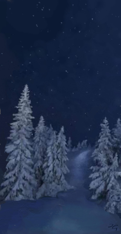 winternight  | Hanne | Digital Drawing | PENUP
