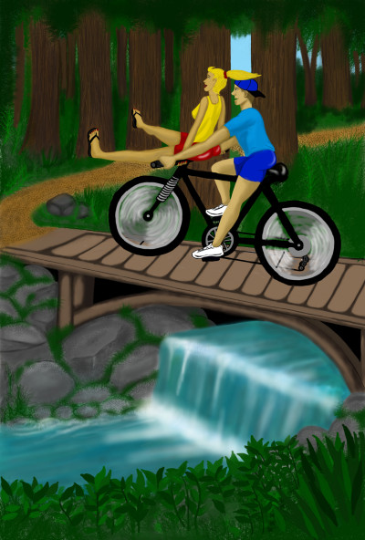 Bike Ride through the Woods | Terry627 | Digital Drawing | PENUP