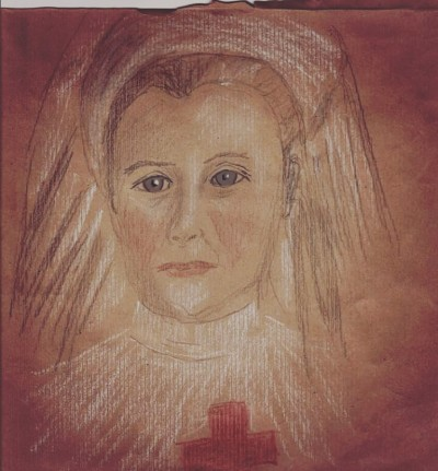 English WW! heroine Edith Cavell Trois crayon | Blueflow | Digital Drawing | PENUP