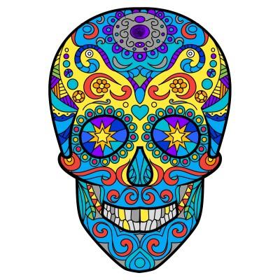 Colourful skull | Templejax303 | Digital Drawing | PENUP