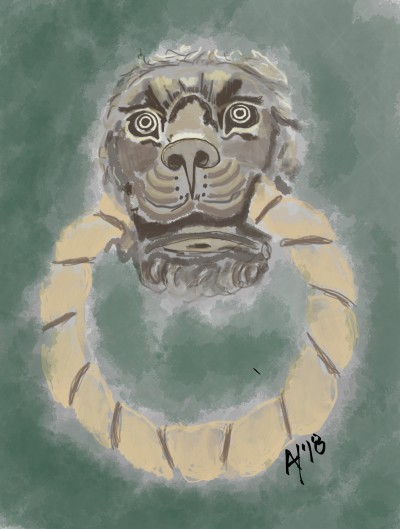 Lion Knocker, Madrid   AHY   Digital Drawing   PENUP