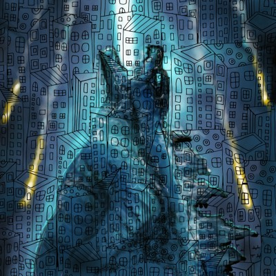 Godzilla in the city!! | Prashant | Digital Drawing | PENUP