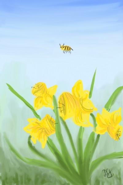 spring bee | Damirijana | Digital Drawing | PENUP