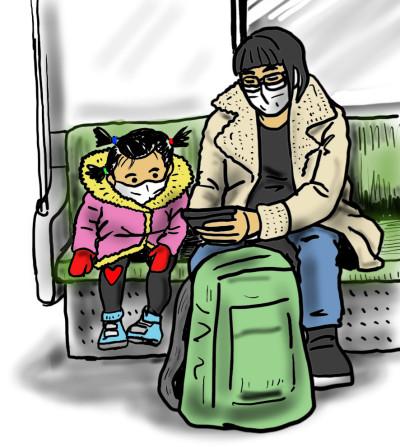 전철드로잉-아이와  동영상과 엄마 | vazl | Digital Drawing | PENUP