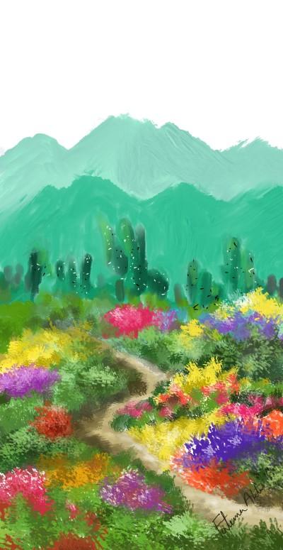 garden | FatemaMusharrof | Digital Drawing | PENUP