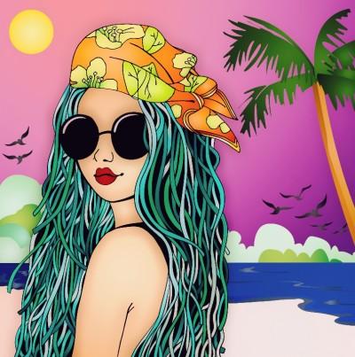 beach gal | noisycotton | Digital Drawing | PENUP