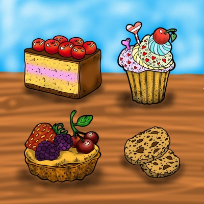 Cakes | tax | Digital Drawing | PENUP