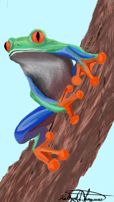 Tree Frog | _Katlyn_L | Digital Drawing | PENUP