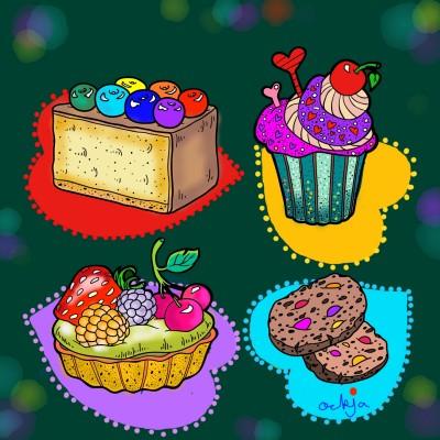 What should we eat first?♡ | ockja | Digital Drawing | PENUP