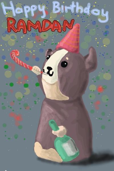 happy birthday  | swinokio | Digital Drawing | PENUP