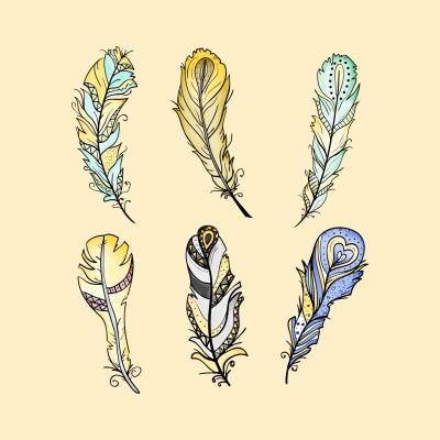 Six Feathers    Trish   Digital Drawing   PENUP