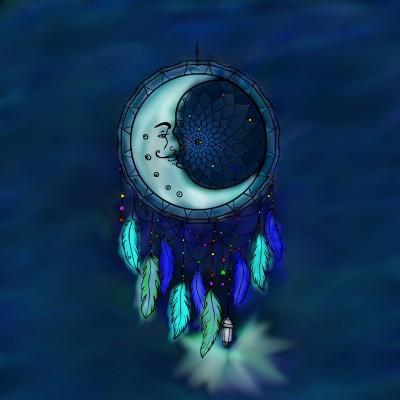 Blue Moon    lisa   Digital Drawing   PENUP