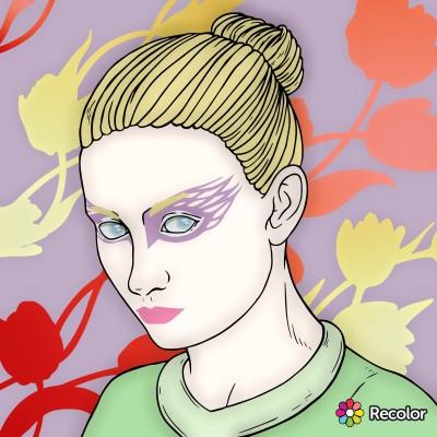 Portrait Digital Drawing | con | PENUP