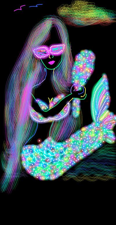 sereia    val   Digital Drawing   PENUP