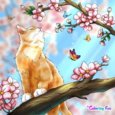 The Cat On The Branch | bohemian_anqel | Digital Drawing | PENUP