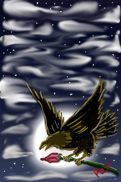 bird flying fr Love  | AZR | Digital Drawing | PENUP