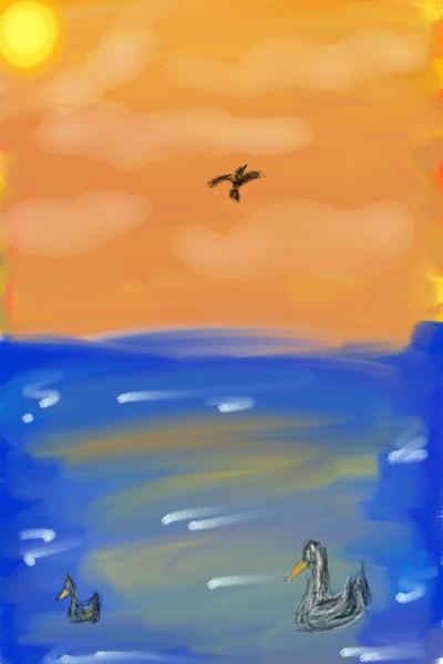 Beach Birds the life | zebraCakes | Digital Drawing | PENUP