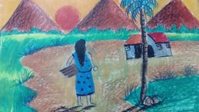 village  | dwitipriya | Digital Drawing | PENUP