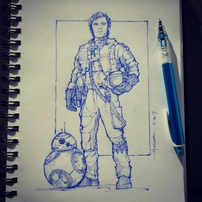 Poe Dameron & BB-8 | Hunger_art | Digital Drawing | PENUP