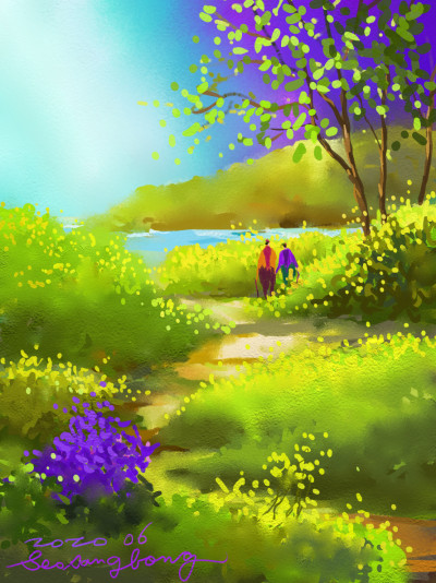 June ~River side | SSB | Digital Drawing | PENUP