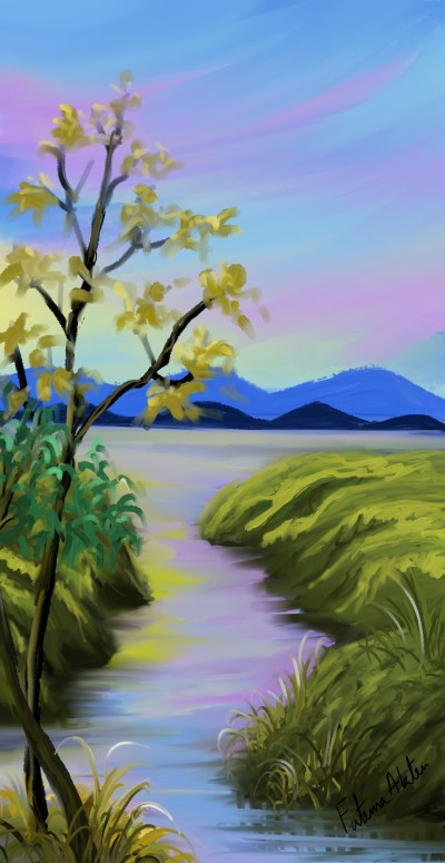river | FatemaMusharrof | Digital Drawing | PENUP