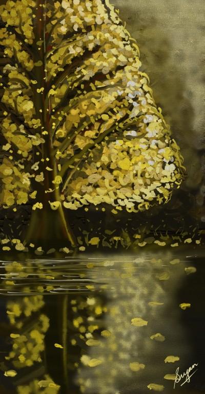 Golden Fall | Sugan | Digital Drawing | PENUP