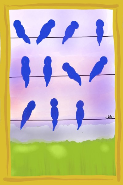 Birds on a Wire | ashkeith9810 | Digital Drawing | PENUP