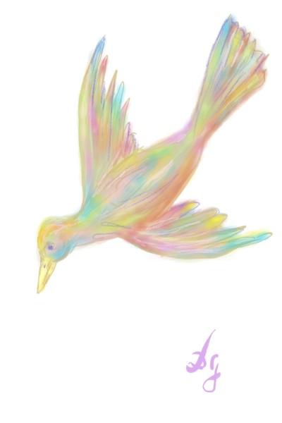 rainbow angel   Damirijana   Digital Drawing   PENUP