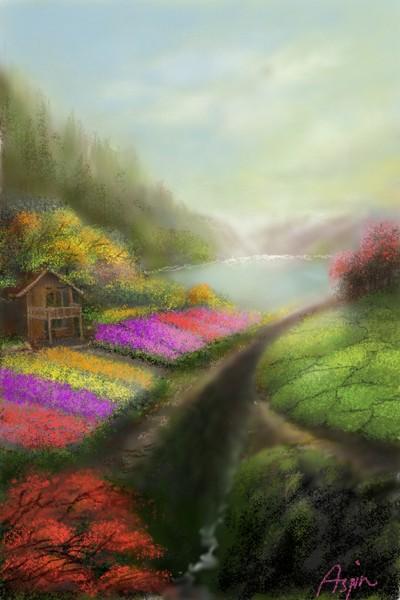 Flower Garden | Aspin | Digital Drawing | PENUP