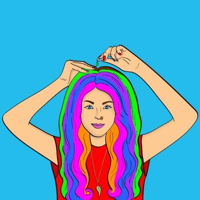 Rainbow Hair Coloring | Bekkie | Digital Drawing | PENUP