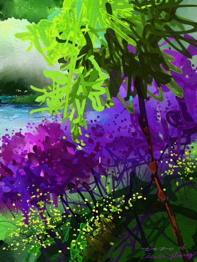 June~Lake side | SSB | Digital Drawing | PENUP