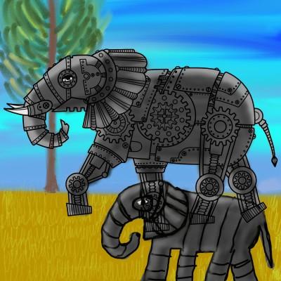 more robots :( | missT | Digital Drawing | PENUP