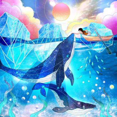 クジラ   Gaycouple   Digital Drawing   PENUP