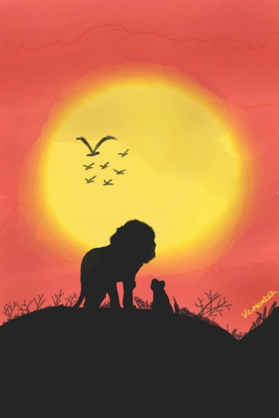 A lion game with her cub | Venkatesh | Digital Drawing | PENUP