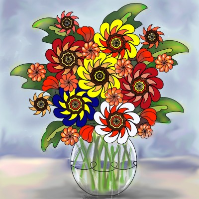 Flowers | lopz | Digital Drawing | PENUP