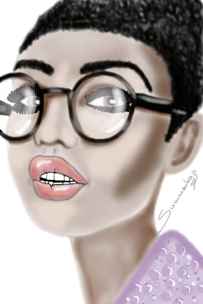 Four eyes!?   SummerKaz   Digital Drawing   PENUP