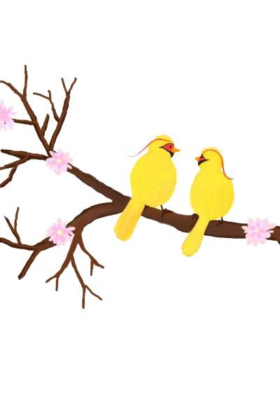 yellow birds | 4ever4 | Digital Drawing | PENUP