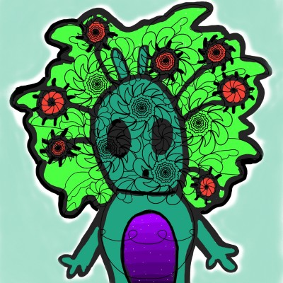 an alien with several eyes ○_○ | alexa227 | Digital Drawing | PENUP