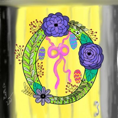 Spring wreath | Daisy-C.K.W. | Digital Drawing | PENUP