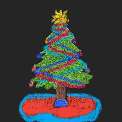 where are the presents under the tree | Anevans2 | Digital Drawing | PENUP