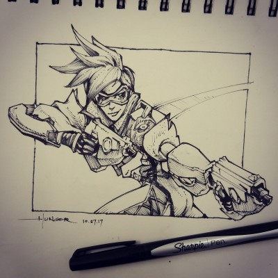 Tracer from Overwatch | Hunger_art | Digital Drawing | PENUP