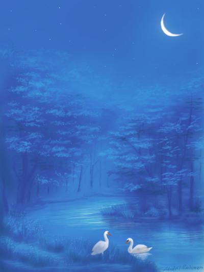 Blue Night  | abdulrahman | Digital Drawing | PENUP
